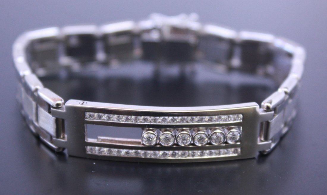 Floating Diamond Bracelet 14k White Gold
