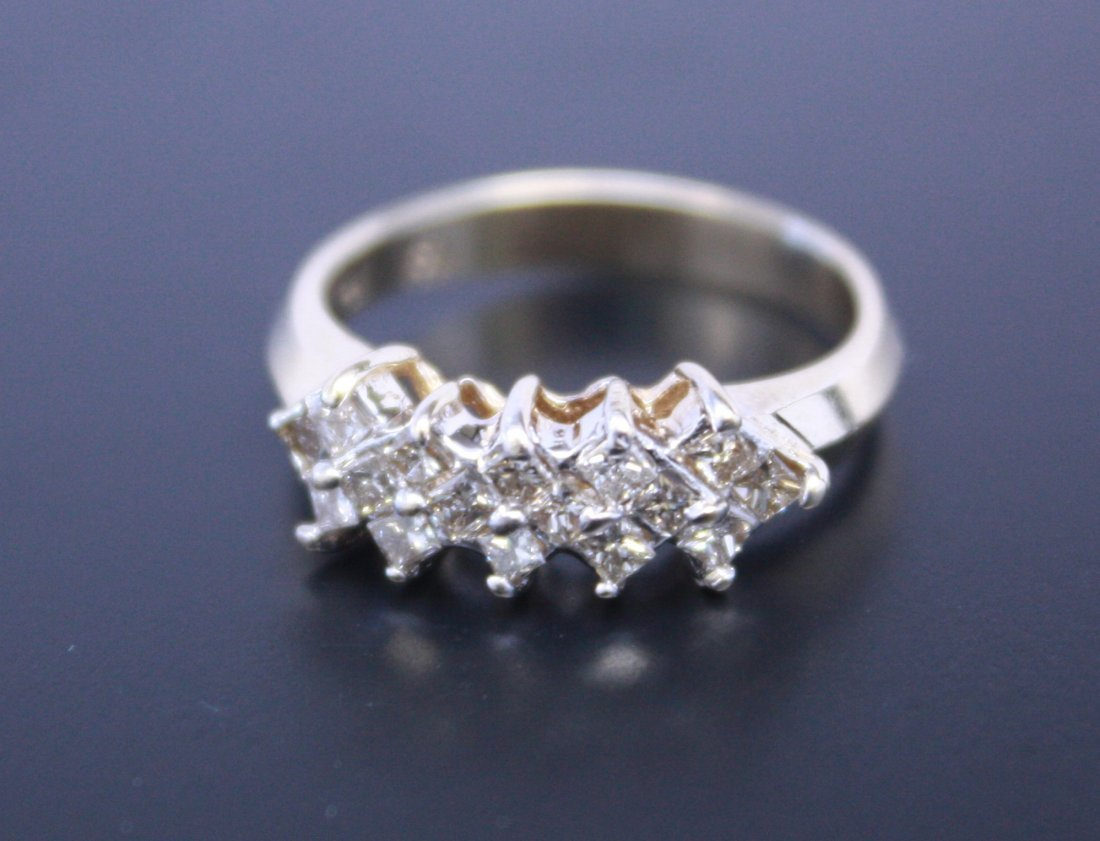 16 Princess Cut Diamond Ring Yellow Gold 14k