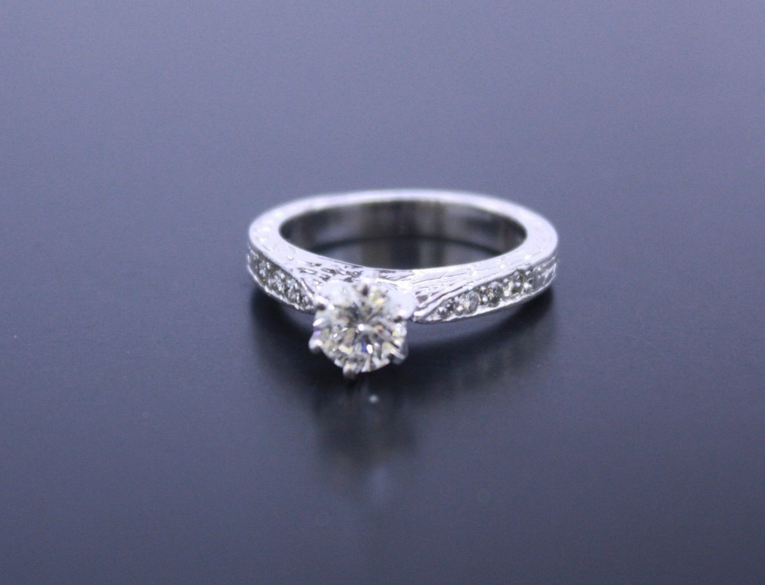 Round Solitaire Diamond Platinum Ring
