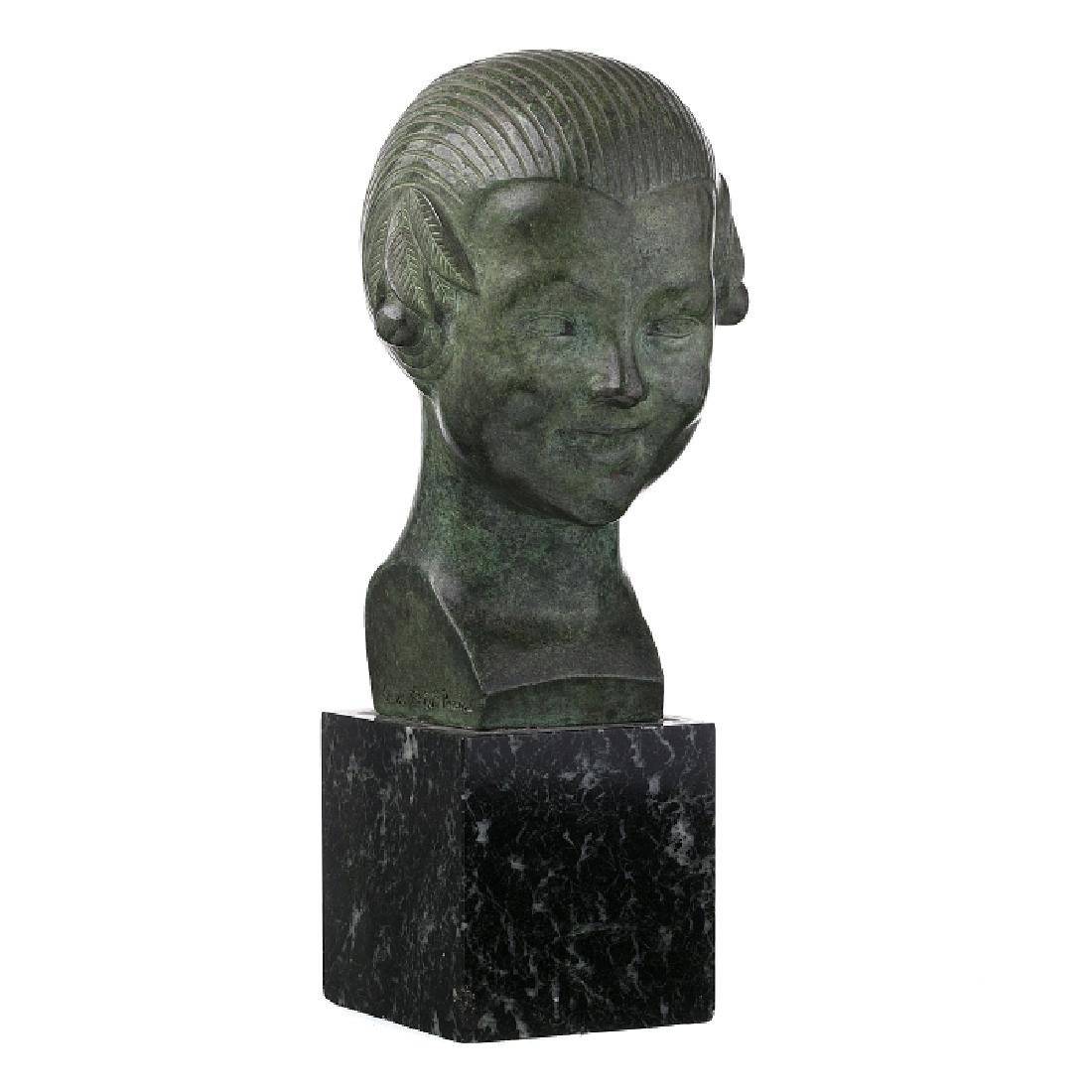 GASTON HERBEMONT (1883-?) - 'Bust of Girl with