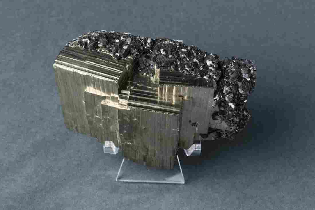 Pyrite and Sphalerite Mineral Specimen Crystal