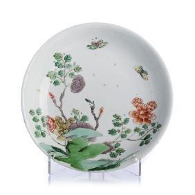 Famille Verte dish in Chinese porcelain, Kangxi