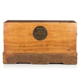 Large Chinese chest in camphor wood