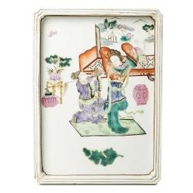 Chinese porcelain figural tray, Tongzhi