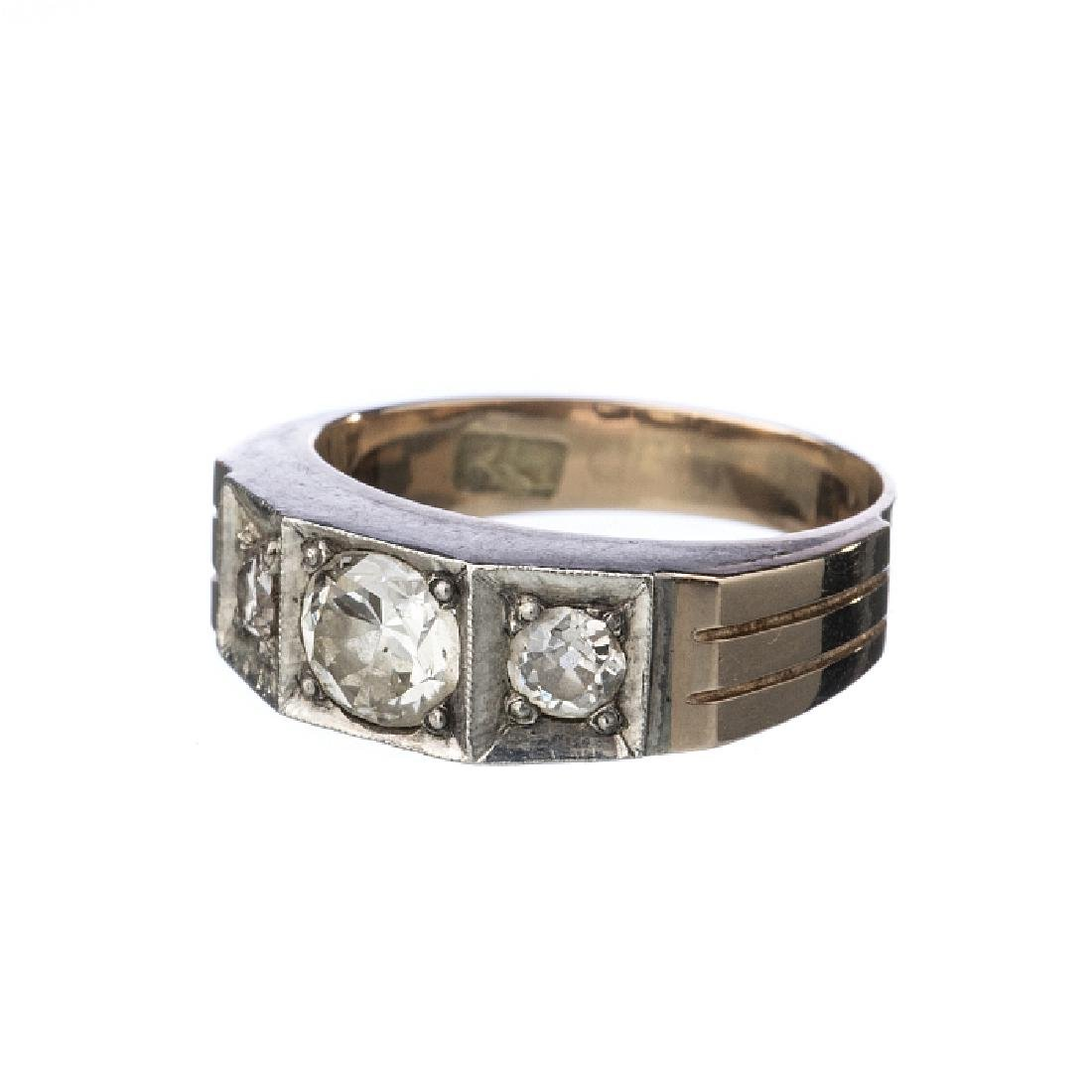 Ring in 18k bicolour gold, with diamonds