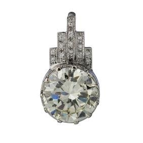 Important Gold Pendant With Central 9.06ct Diamond