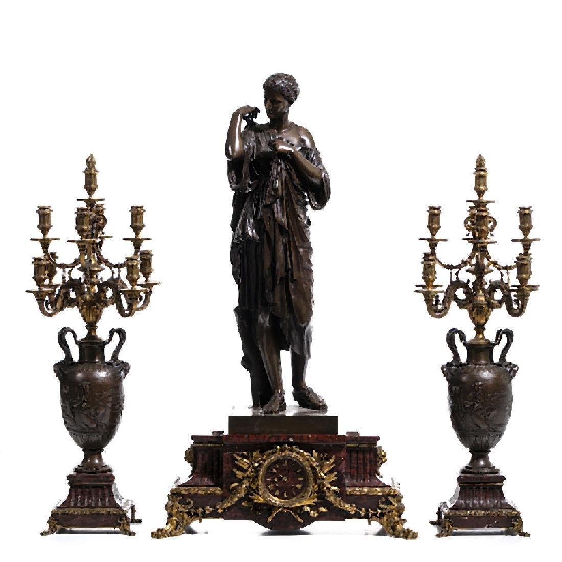 FERDINAND BARBEDIENNE (1810-1892) - Large bronze table