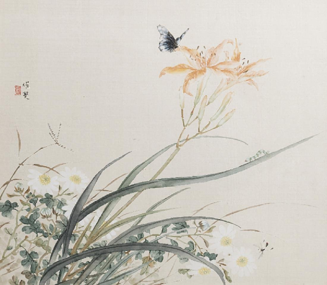 CHINESE SCHOOL - Four watercolours on silk - 2