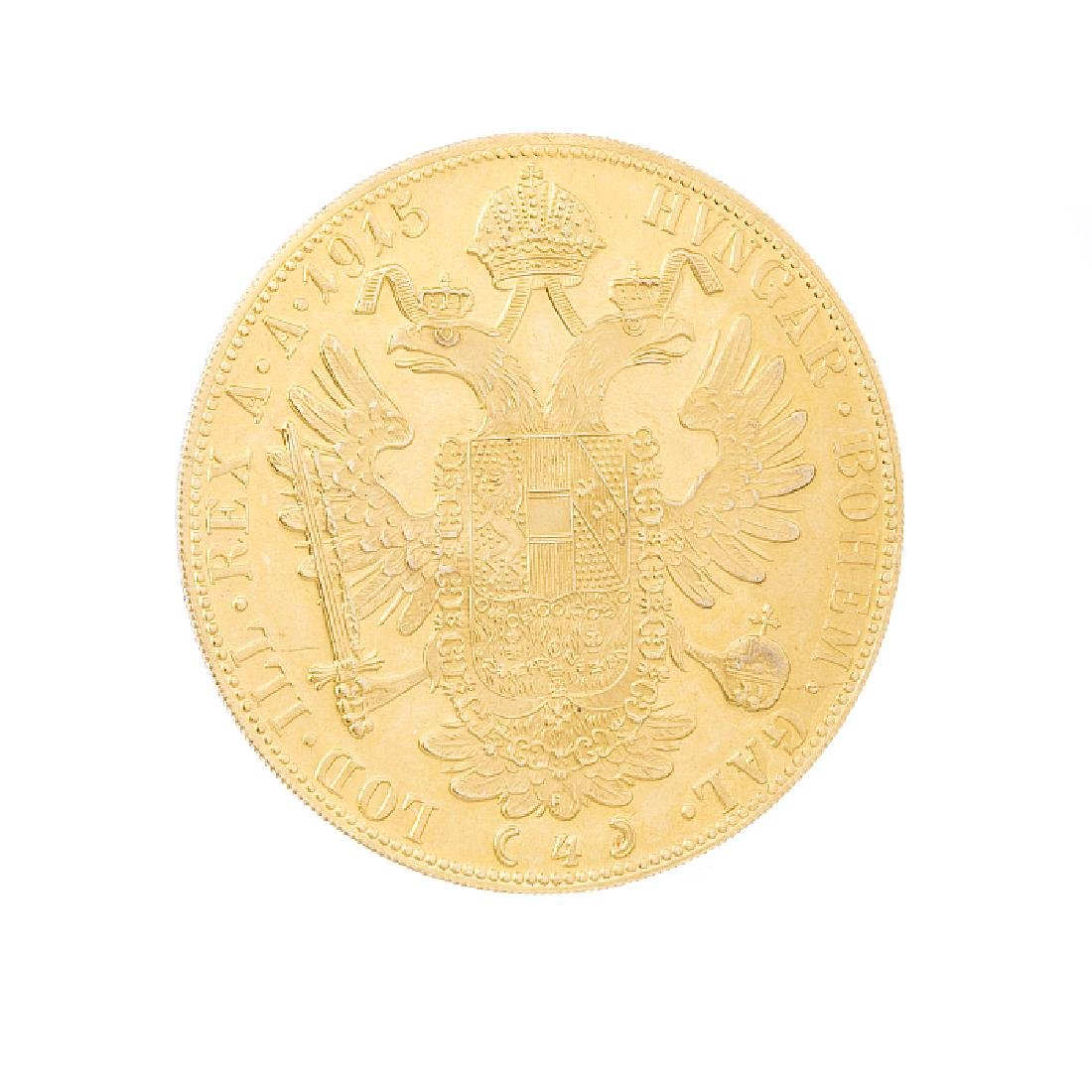 Austrian coin in gold, 4 Ducats