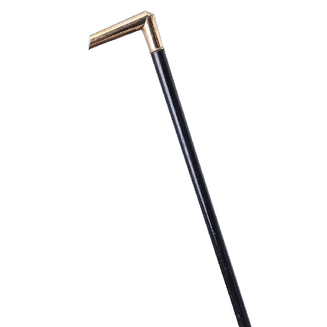 Walking stick with a knob in gold