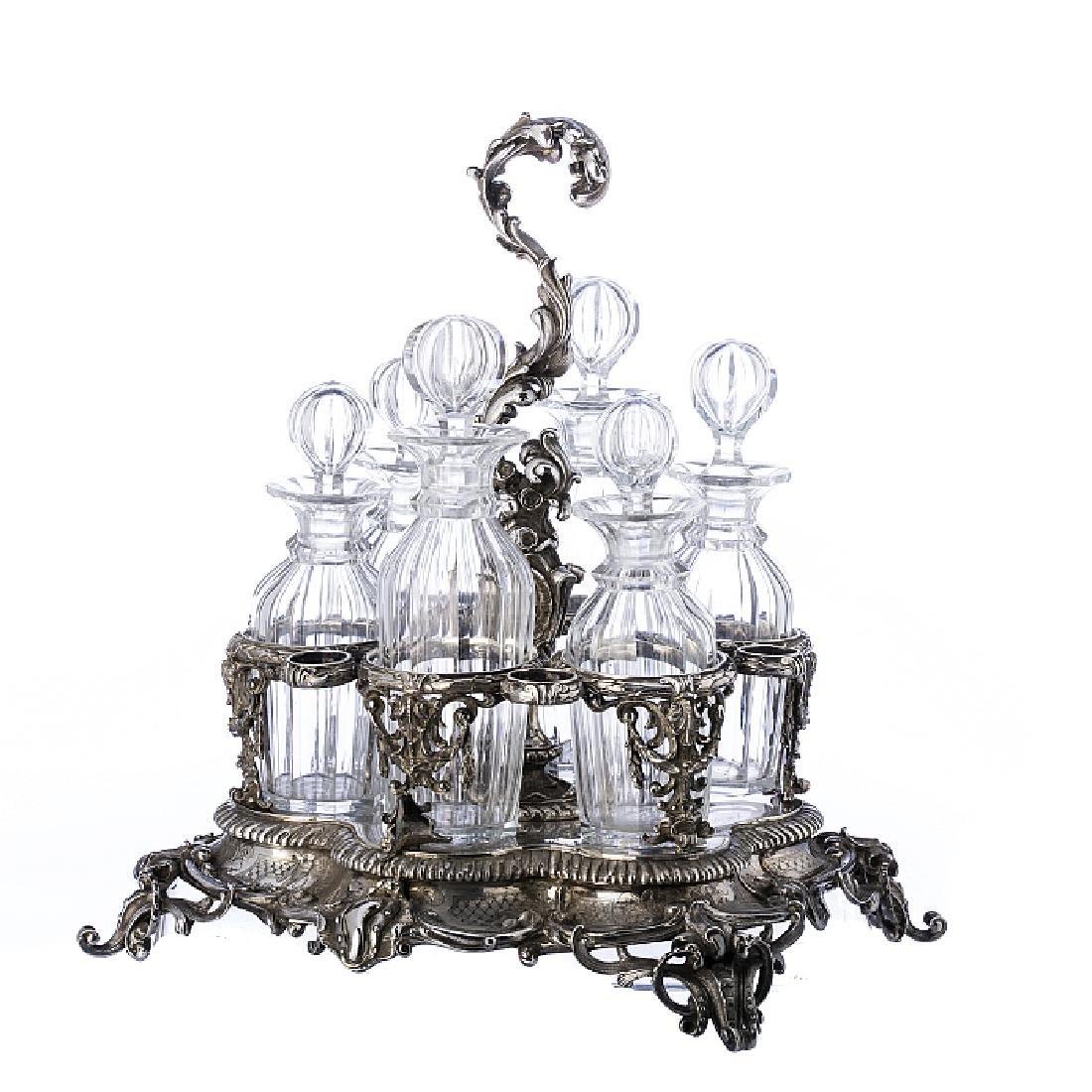 Silver Cruet set with Arms of Baron Wilhelm Carl von