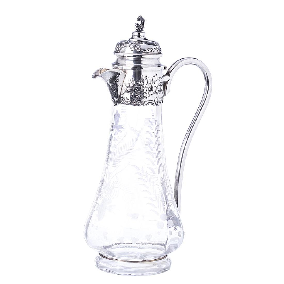 Jug in glass and silver