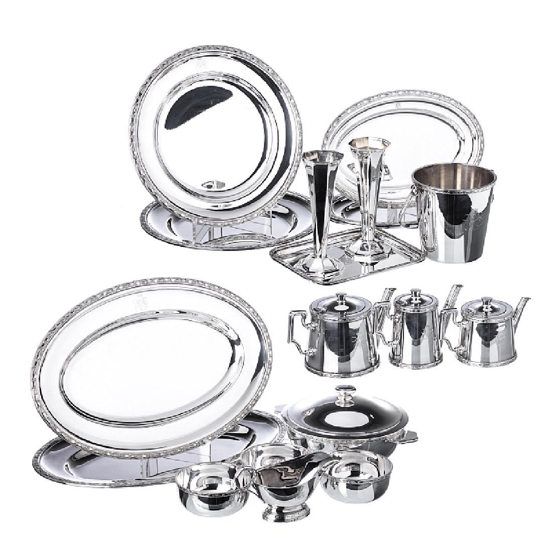 ERCUIS - Orient Express set in silver plate