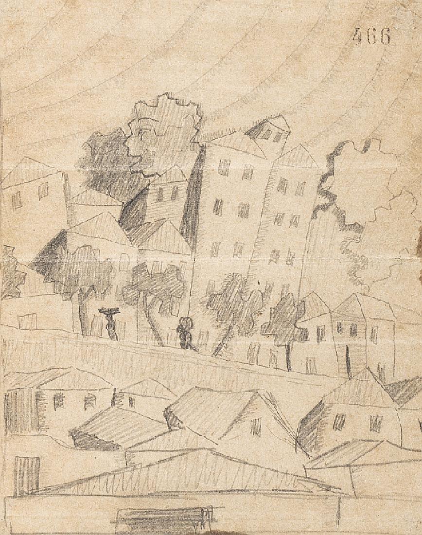 DOMINGUES ALVAREZ (1906-1942) - Landscape with houses
