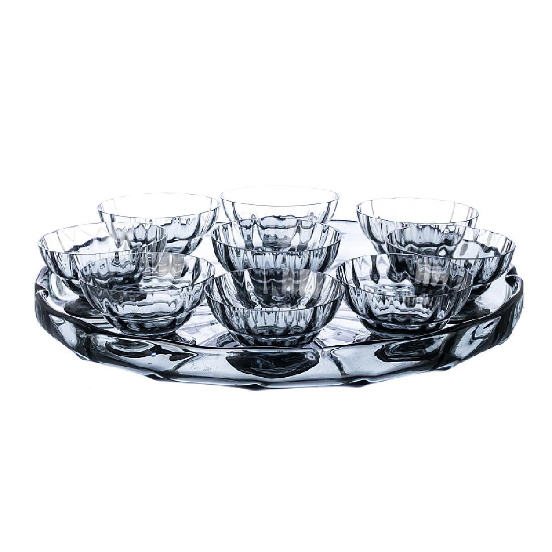 DAUM NANCY - Set with a tray and bowls
