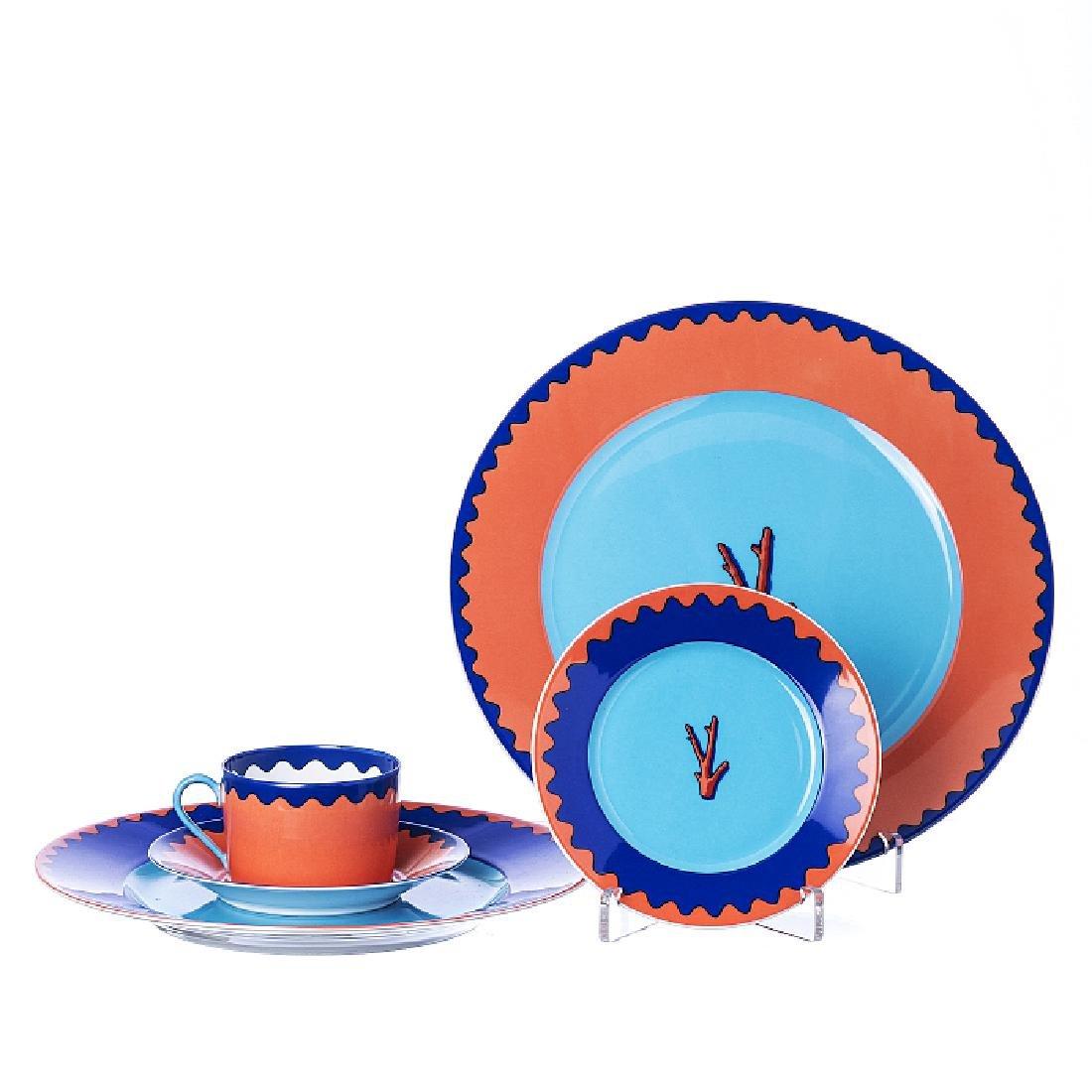 GAROUSTE & BONETTI - Part of a Trapani set in porcelain