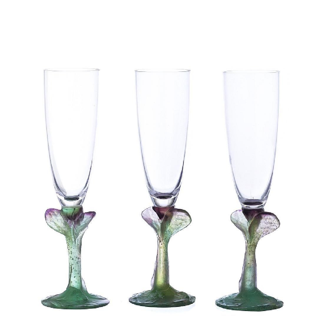 DAUM, FRANCE - Twelve flutes in crystal