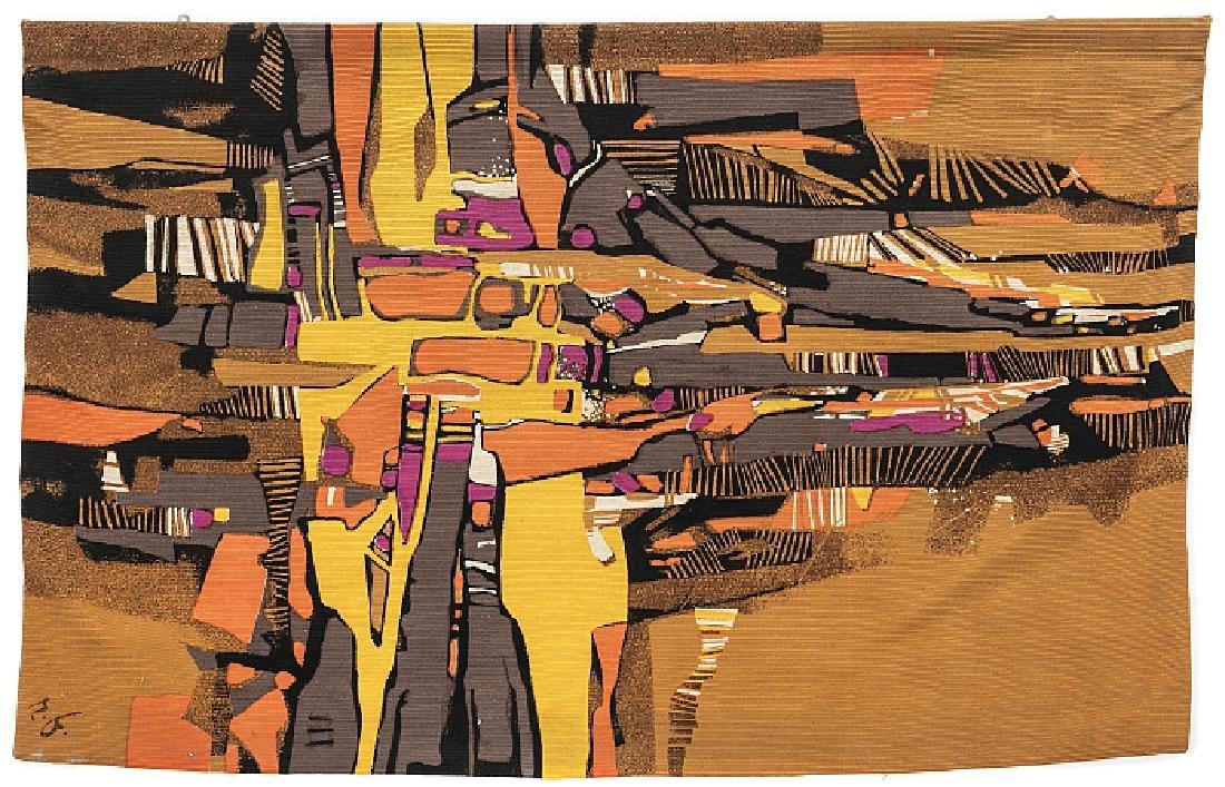 RENÉ FUMERON (1921-2004) - Modernist tapestry