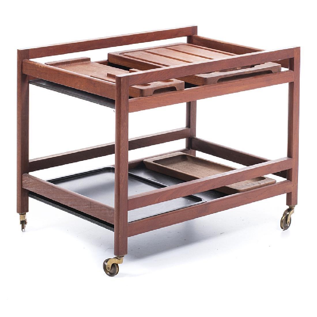 Modernist serving cart