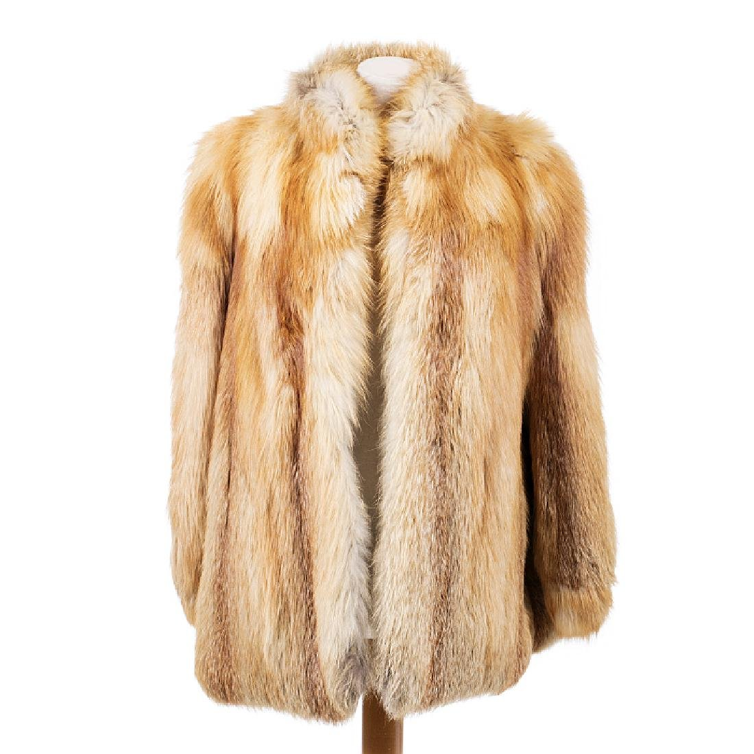 Jacket in fox fur