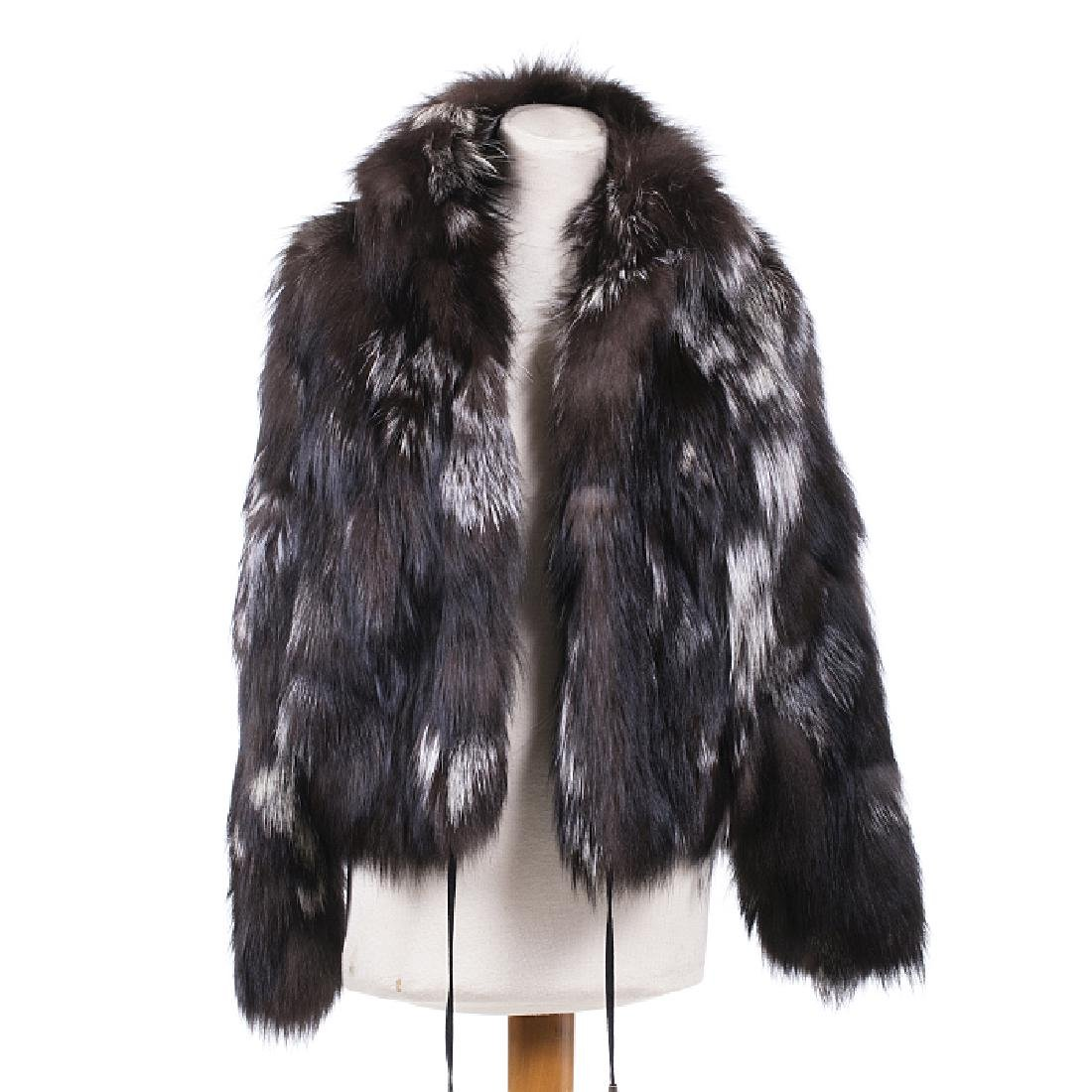 Jacket in argenté fox fur