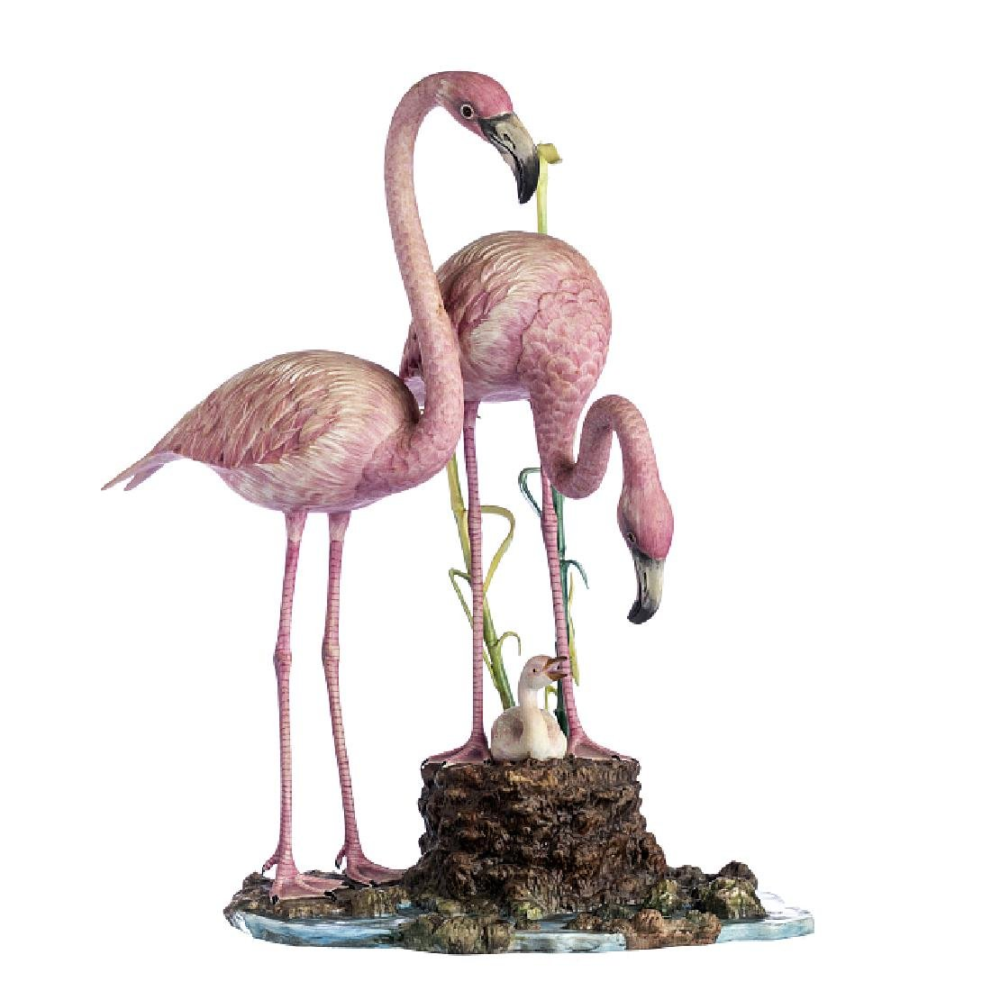 Sculpture group with 'Flamingos' by Vista Alegre