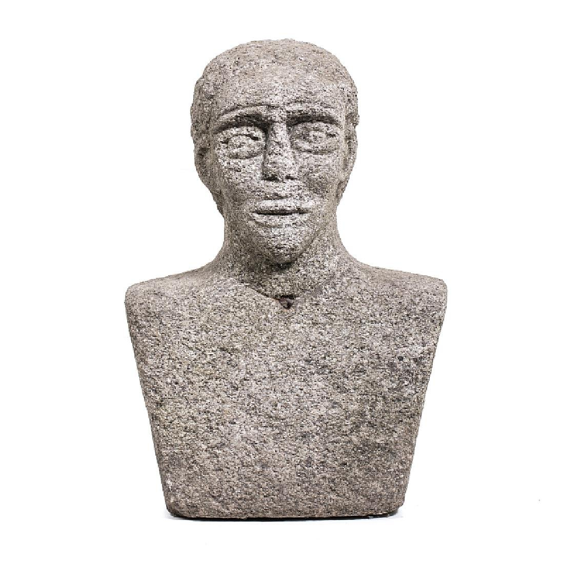 Bust in granite