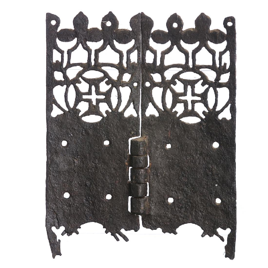 Cross of Christ iron hinge