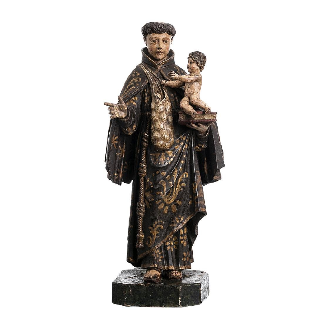 Saint Anthony with a pouch with Child Jesus
