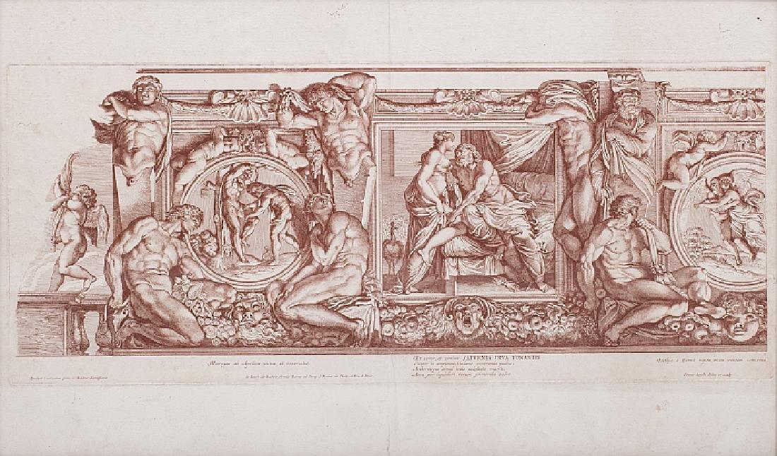 ANNIBALE CARRACCI (1560-1609) - Pair of engravings,