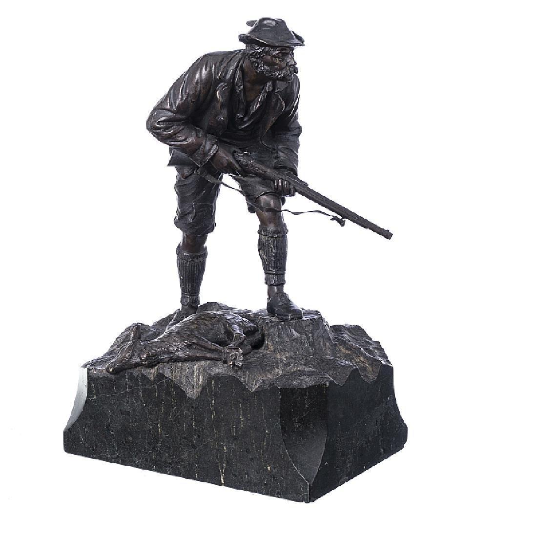 Hunter in bronze