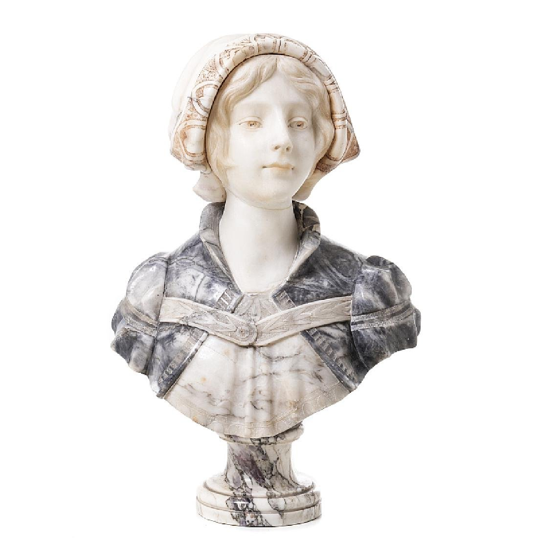Female bust in marble