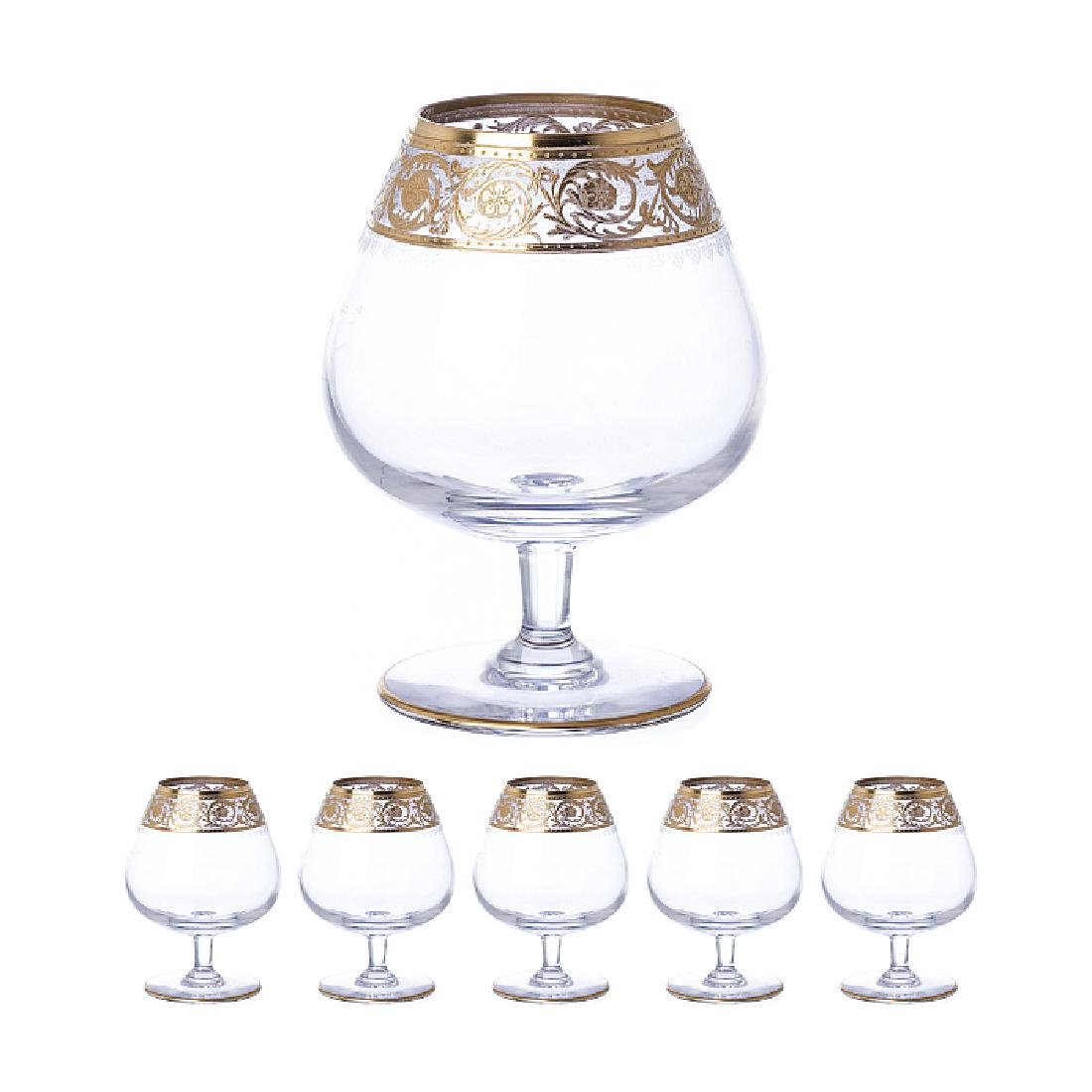 SAINT LOUIS - Six cognac snifters in crystal