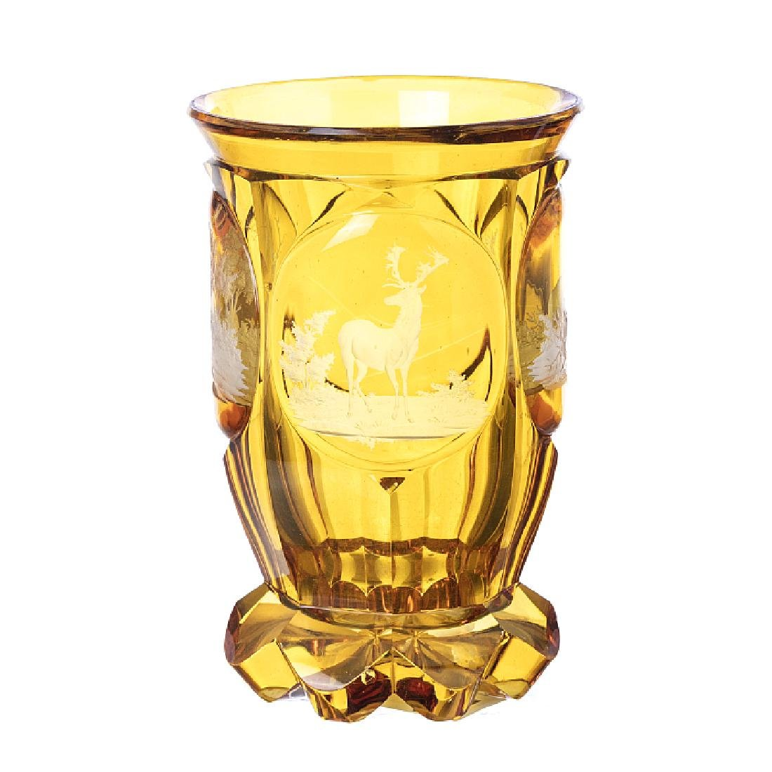 Deer glass in Bohemia crystal
