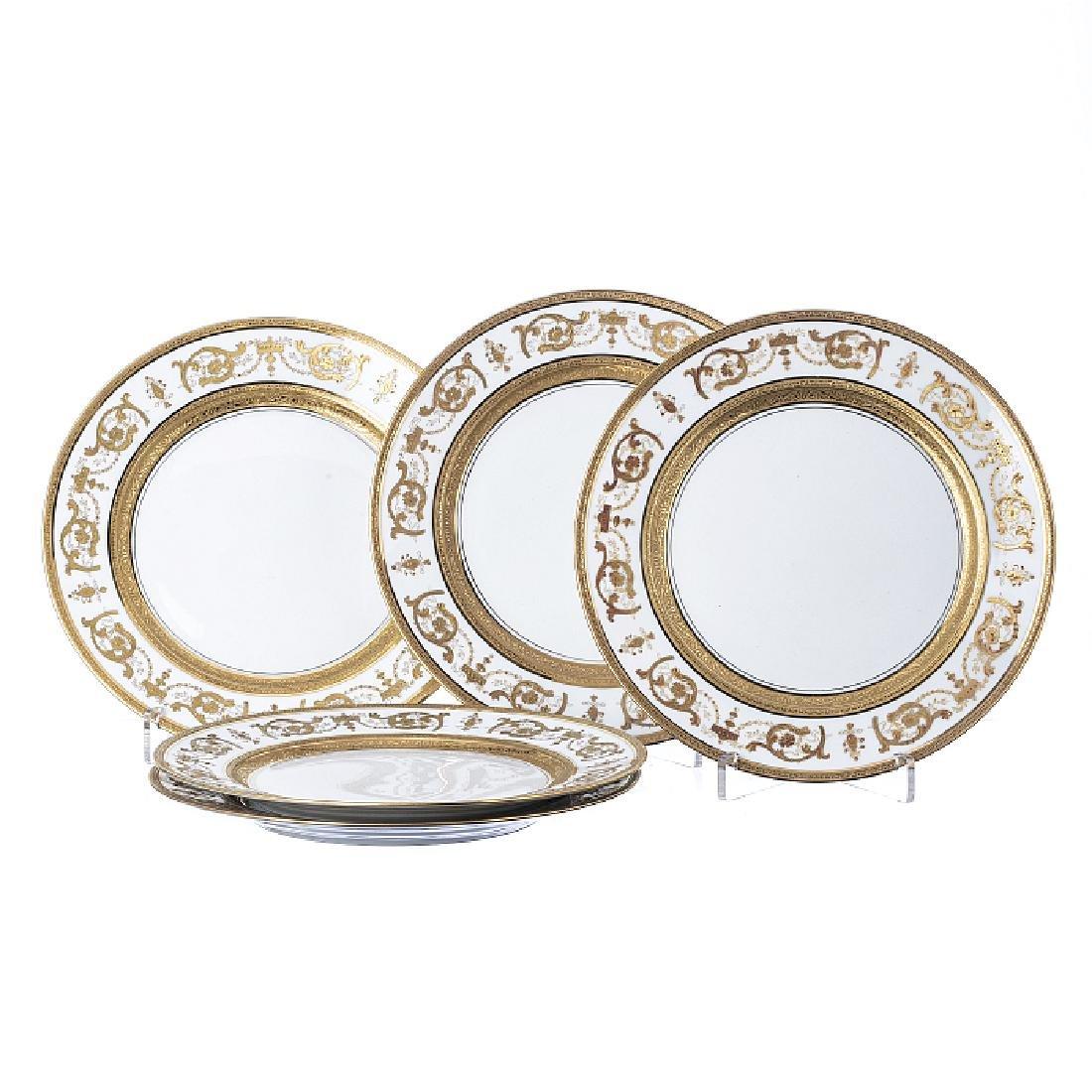 Five Imperator Or plates in Haviland porcelain