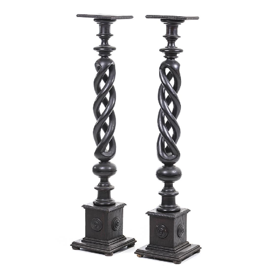 Pair of columns with twists
