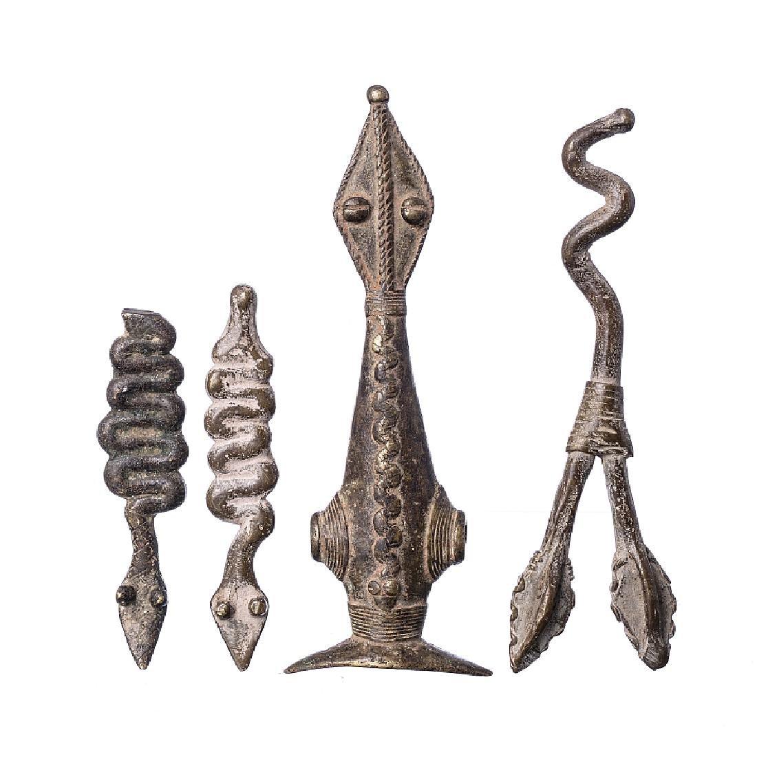 GAN - Four bronze sculptures