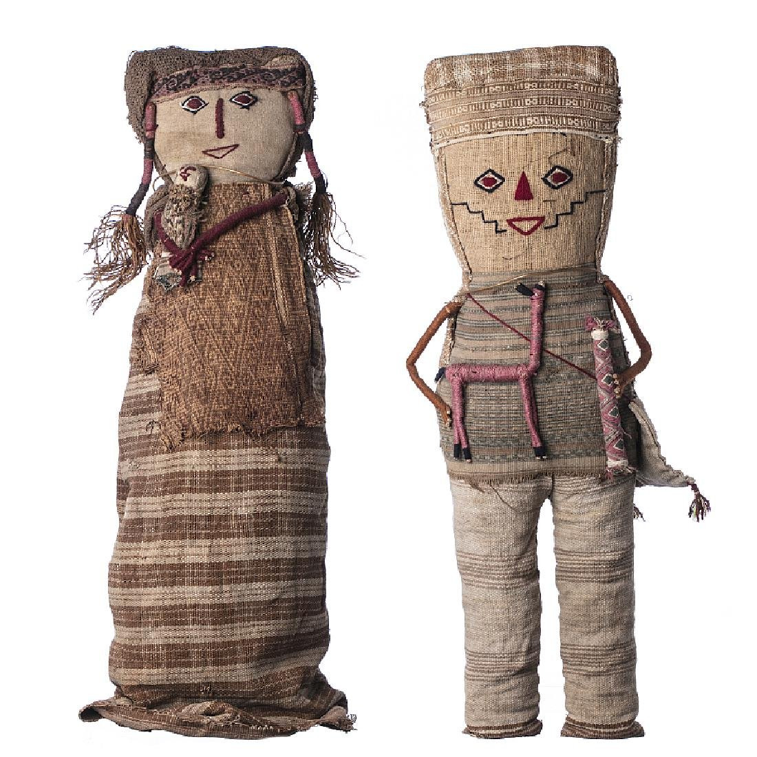 CHANCAY - Two dolls, Peru