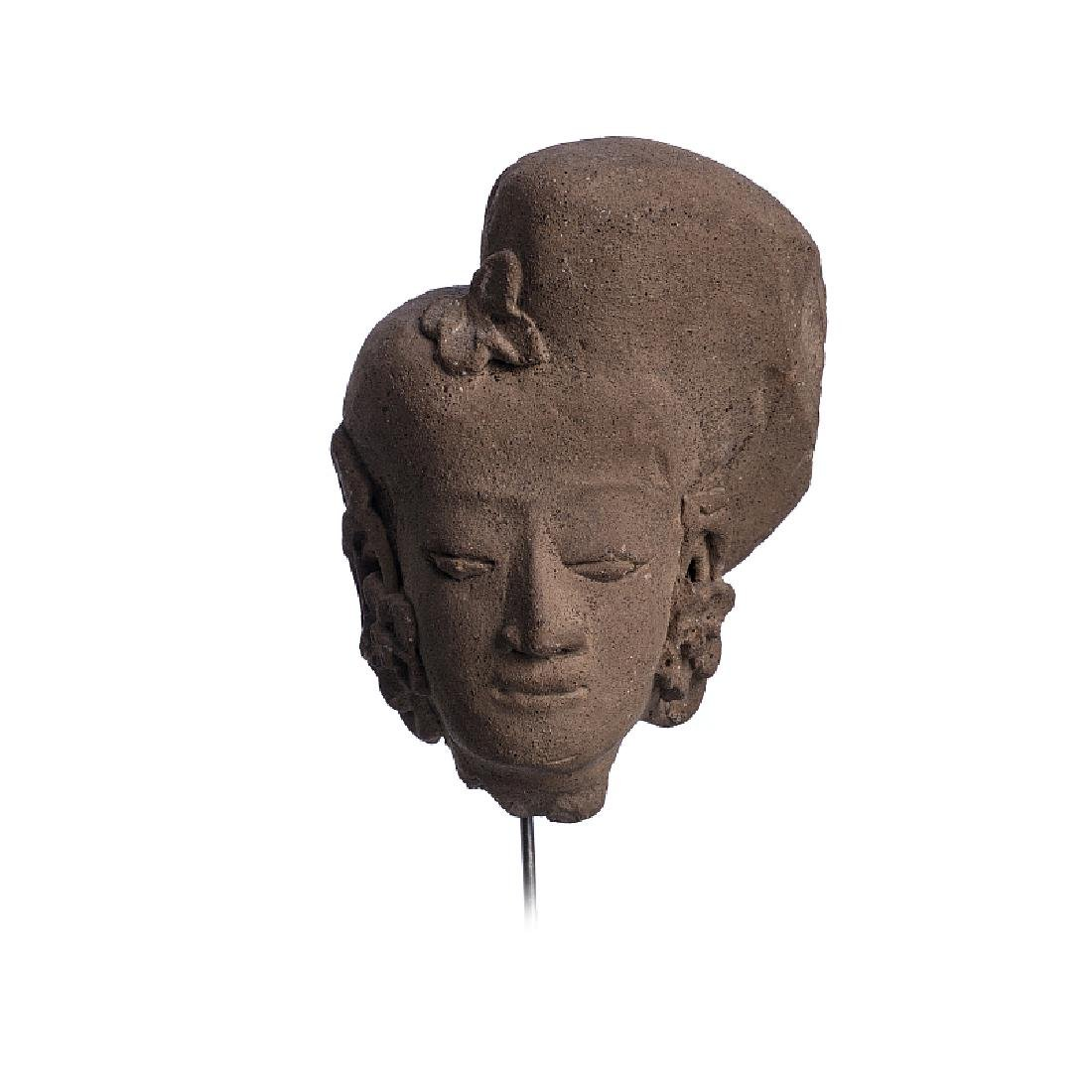 MAJAPAHIT - Female Deity terracotta head
