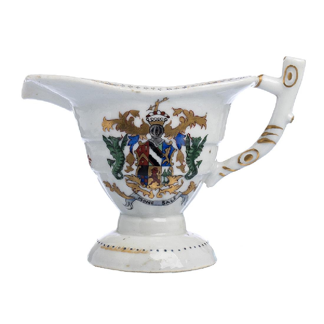 Gravy boat with coat of arms in Chinese porcelain