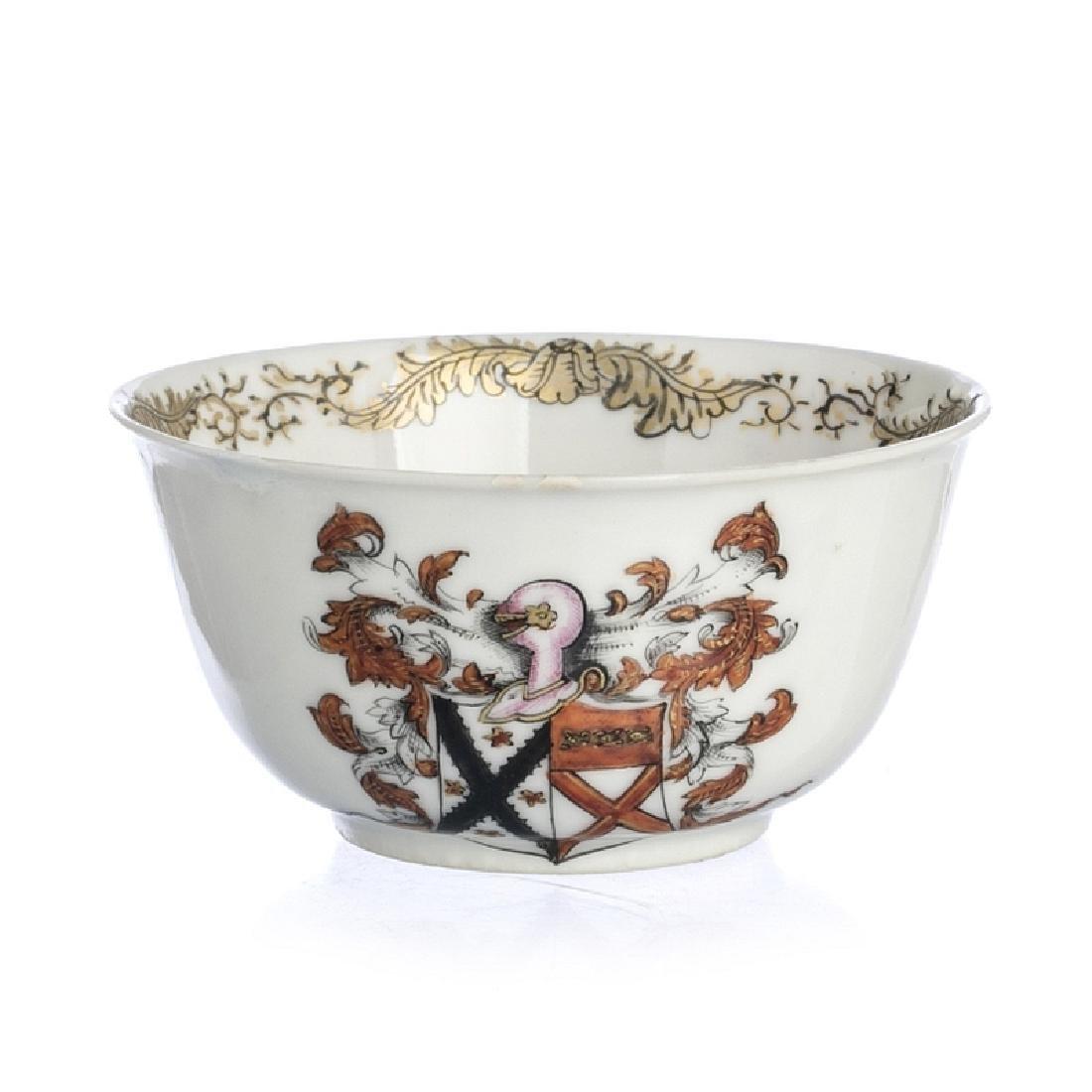 Chinese Porcelain Gardner Armorial Teacup, Qianlong