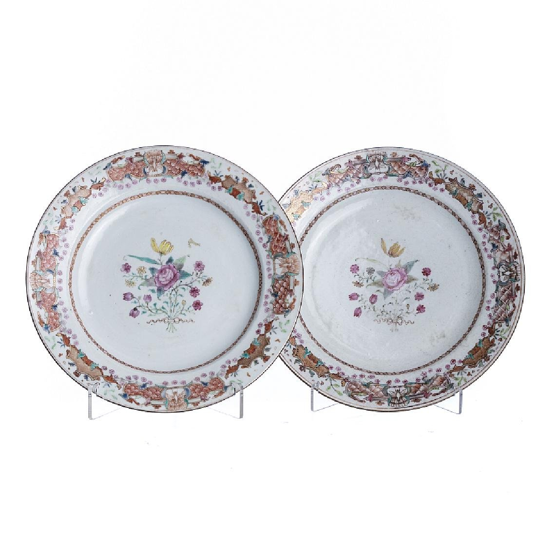 Pair of 'flowers' in Chinese porcelain