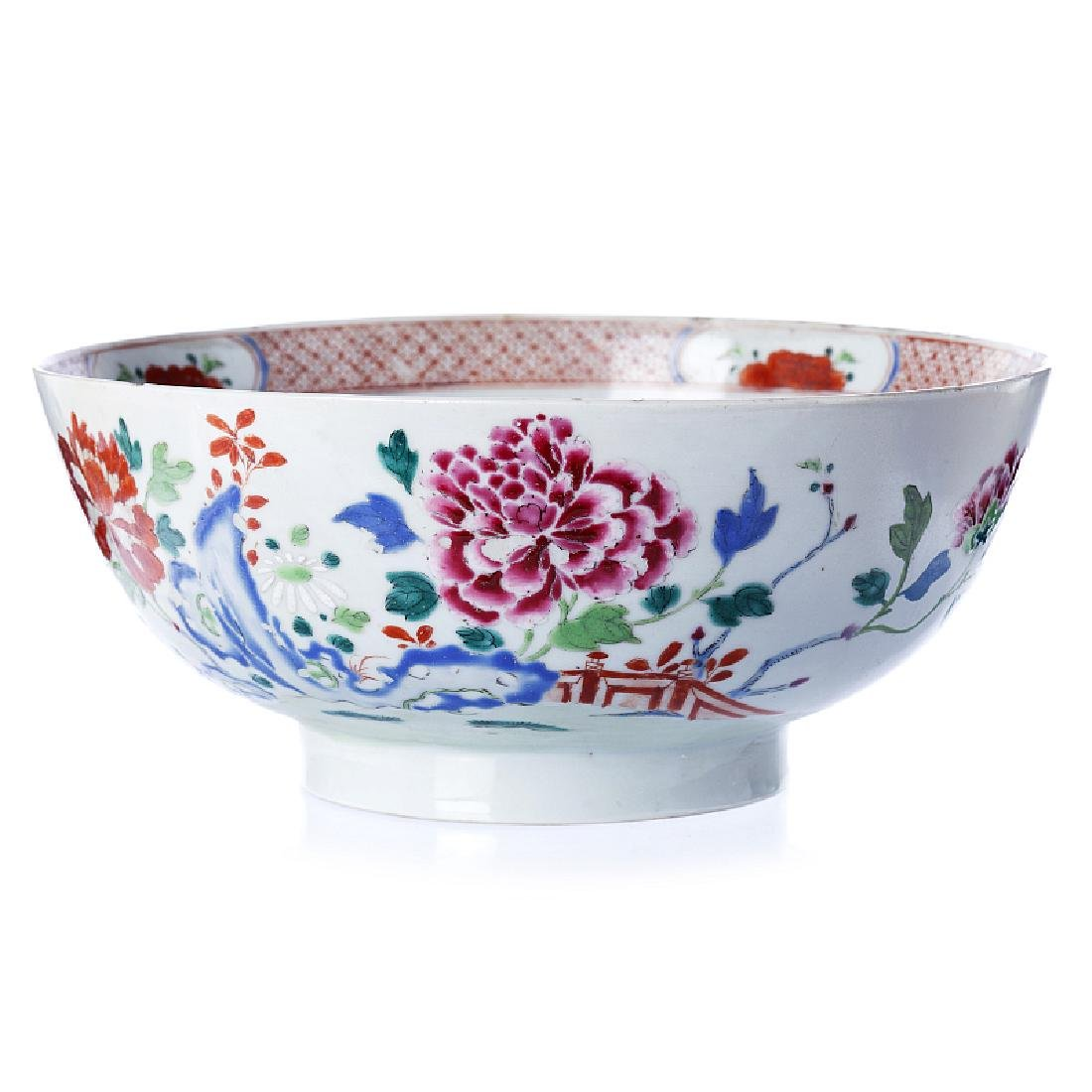 Punch bowl in Chinese porcelain, Qianlong