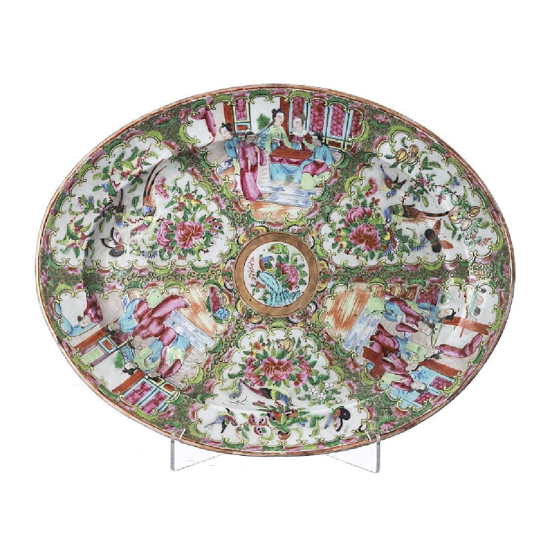 """Literatus†platter in Chinese porcelain"