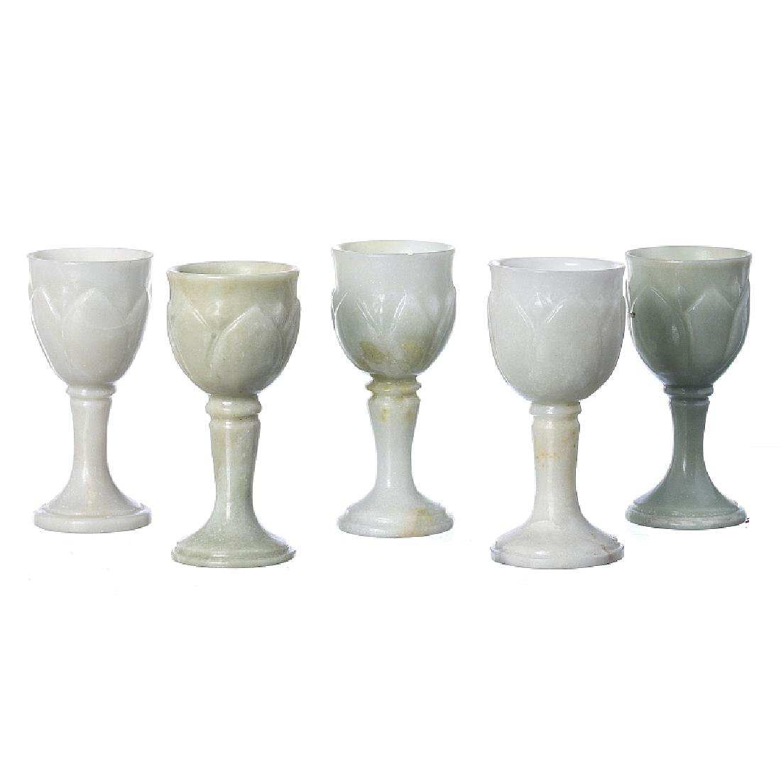 Five cups in jadeite