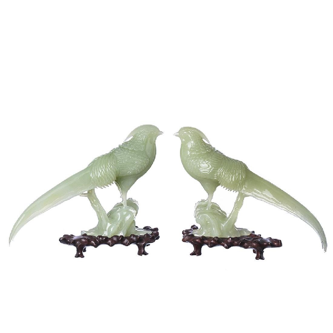 Pair of jade birds