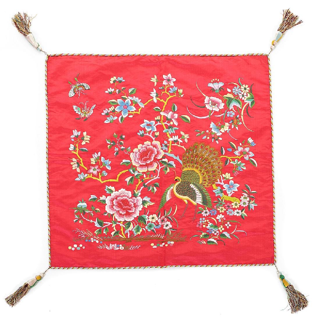 Chinese embroidered cushion