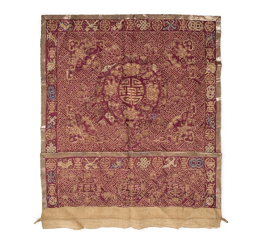 Chinese altar cloth