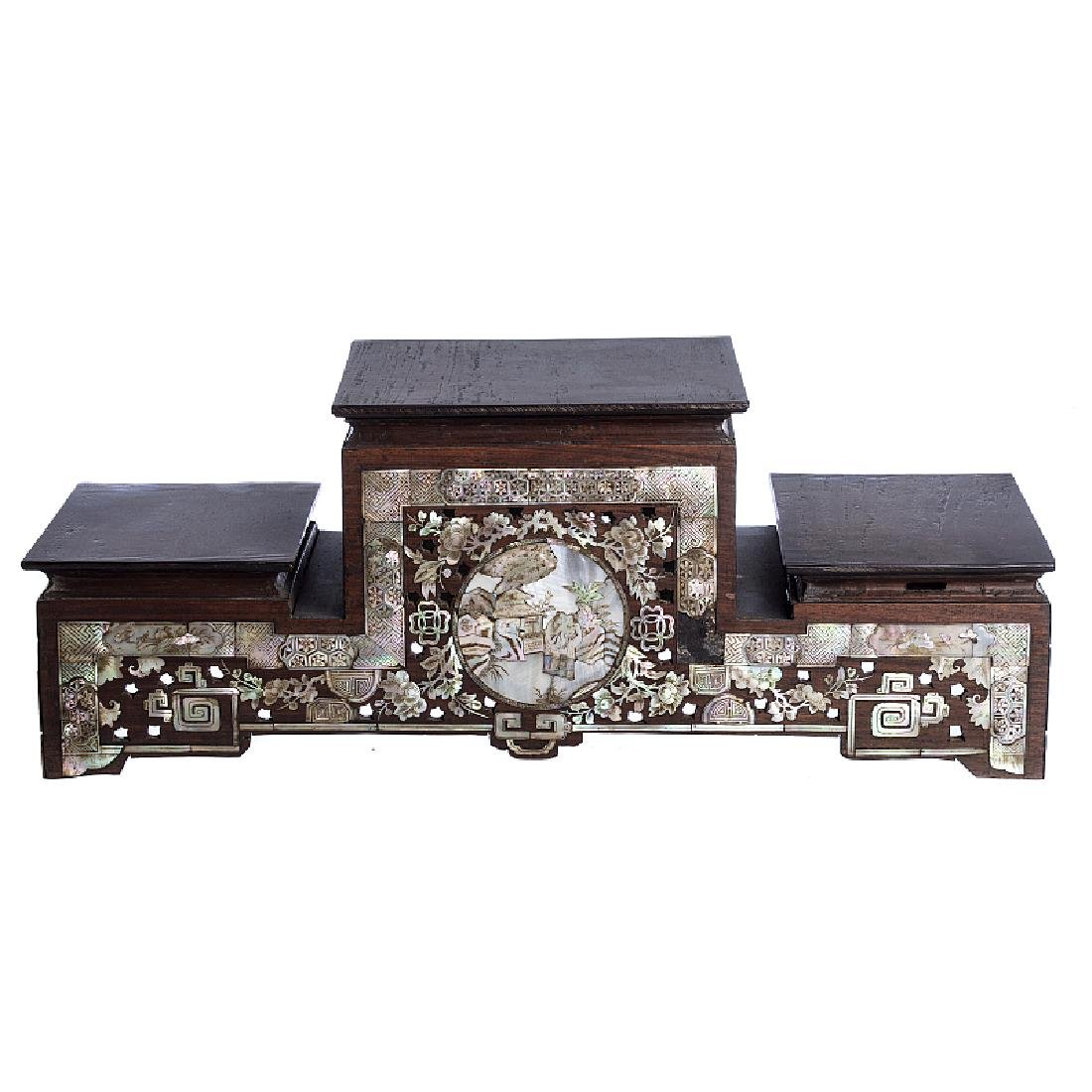 Chinese altar with inlaid mother of pearl
