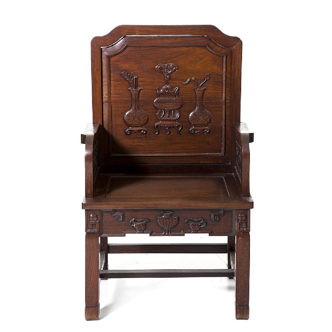Armchair in tamarind wood, Minguo